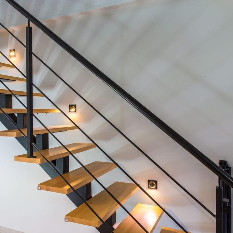 Eclairage encastré escalier